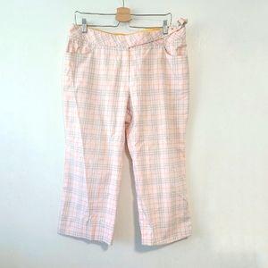 BURBERRY GOLF Cotton Cropped Pastel Pants 12